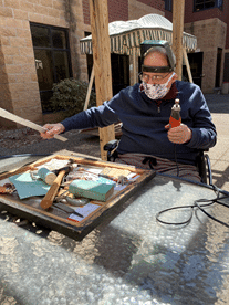 Outdoor time with power tools